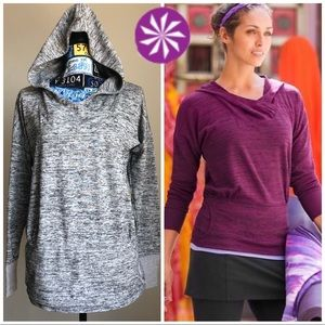 Athlete Thumb Holes Women's Hoodie Marble Gray M
